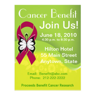 Personalize Myeloma Cancer Fundraising Benefit 21.5 Cm X 28 Cm Flyer
