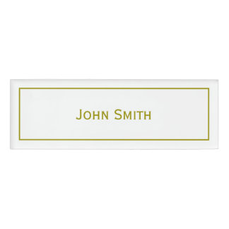 Personalize Name on Modern Minimal Gold & White