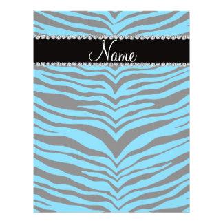 Personalize name sky blue tiger stripes custom flyer