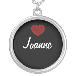 Personalize Necklace-JOANNE-Sterling Silver Cool Silver Plated Necklace
