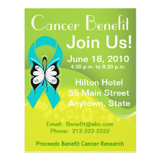 Personalize Ovarian Cancer Fundraising Benefit Flyers