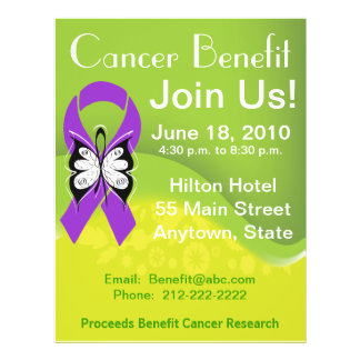 Personalize Pancreatic Cancer Fundraising Benefit 21.5 Cm X 28 Cm Flyer