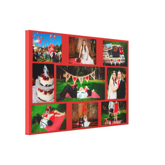 Personalize this Wedding Photo Collage Wall Art Re