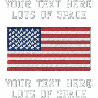 Personalize USA Stars 'n Stripes FLAG Embroidery Polo Shirt