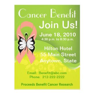 Personalize Uterine Cancer Fundraising Benefit 21.5 Cm X 28 Cm Flyer