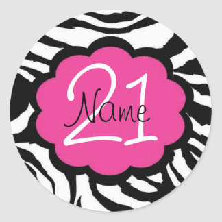 Personalized 21st Birthday Sticker