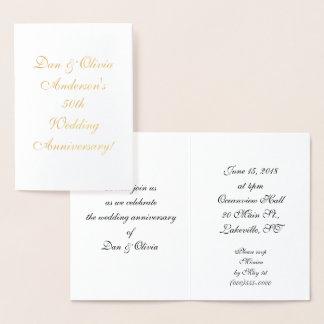 Personalized 50th Anniversary Invitations
