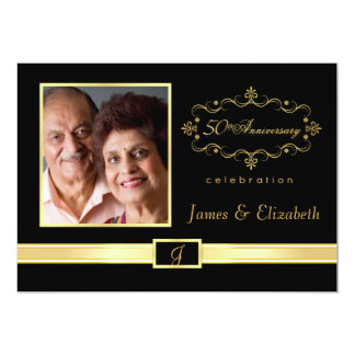 Personalized 50th Anniversary Party Invitations