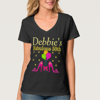 PERSONALIZED 50TH SHOE QUEEN BIRTHDAY T SHIRT