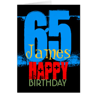 Personalized 65th Birthday Greeting Card