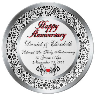 years married anniversary plates zazzle co nz
