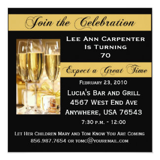 Personalized 70th Birthday Party Invitation
