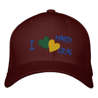 Personalized Adjustable Hat Mardi Gras Embroidered Baseball Caps