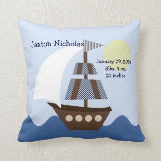 Personalized Ahoy Mate/Sailboat Pillow Keepsake