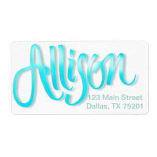 "Personalized ""Allison"" label stickers Shipping Label"