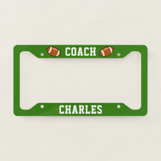 Personalized American Football Coach Name