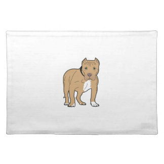 Personalized American Pitbull Dog Placemat