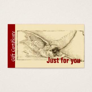Personalized Angel Cherub Holiday Gift Certificate