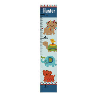 Personalized Animal Parade Growth Chart