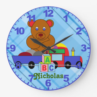 Personalized ANY NAME Boy s Clock with Numbers