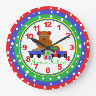 Personalized ANY NAME Child s Clock with Numbers