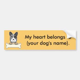 Personalized Australian Cattle Dog Bumper Sticker