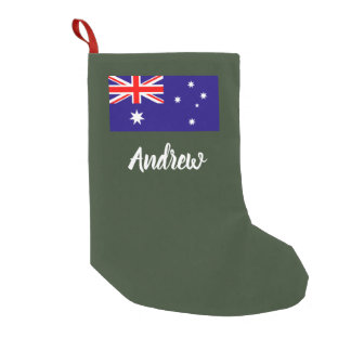 Personalized Australian flag Christmas stocking