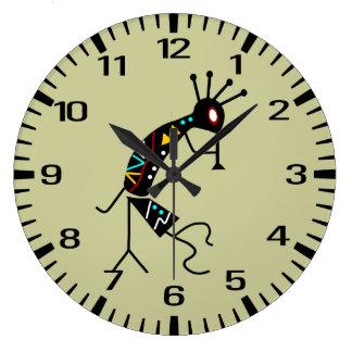 Personalized Aztec Southwest Kokopelli Design Large Clock