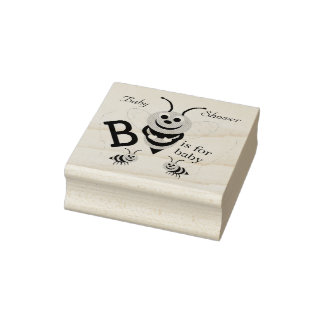 Personalized Baby Shower Rubber Stamp