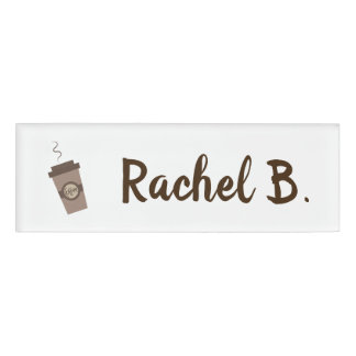 Personalized Barista Cafe Coffee Shop Name Tag