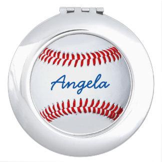 Personalized Baseball Photo Compact Mirror