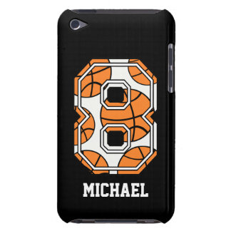 Personalized Basketball Number 8 Barely There iPod Cases