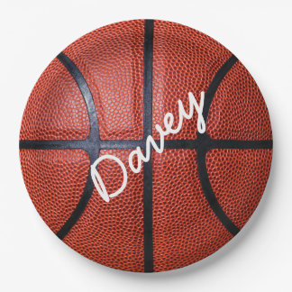 Personalized Basketball Paper Plate
