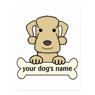 Personalized Bedlington Terrier Postcard