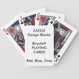 Personalized Bicycle® BLUE RED GRAY Playing Cards