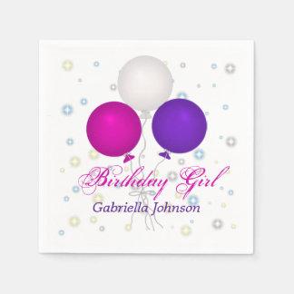 Personalized Birthday Balloons Napkins Paper Napkin