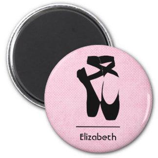 Personalized Black Ballet Shoes En Pointe Magnet