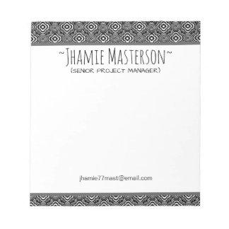 Personalized Black Peddler Notepad