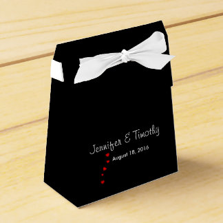 Personalized Black Wedding Favor Box