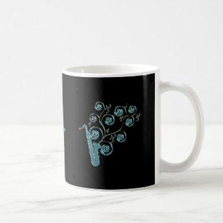 Personalized Blue Saxophone Music Mug