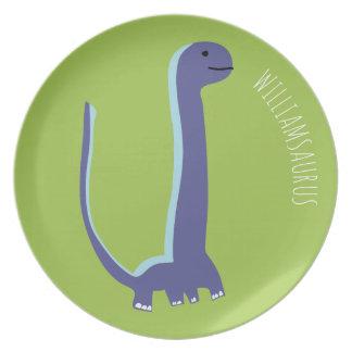 Personalized Brachiosaurus Dinosaur Plate