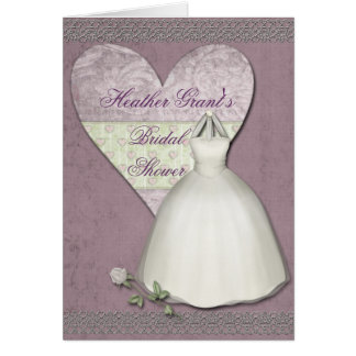 Personalized Bridal Shower Invitation Greeting Card