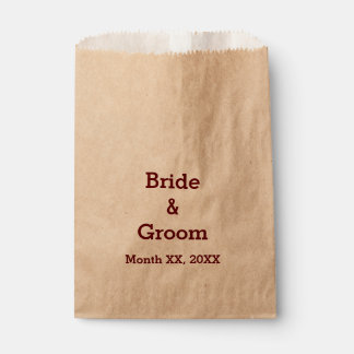Personalized Bride & Groom Wedding Party Favor Bag Favour Bags