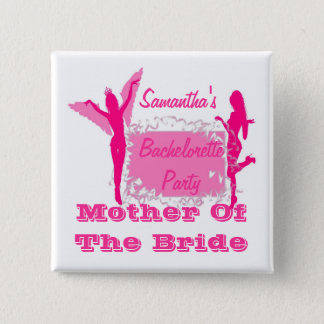 Personalized brides bachelorette party 15 cm square badge