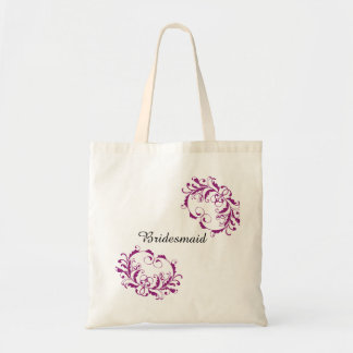 Personalized Bridesmaid Tote Bag in Swirls