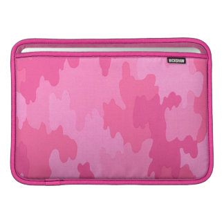 Personalized Bright Pink Camouflage Macbook Sleeve