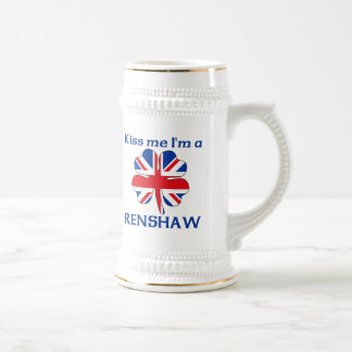 Personalized British Kiss Me I'm Renshaw Beer Steins