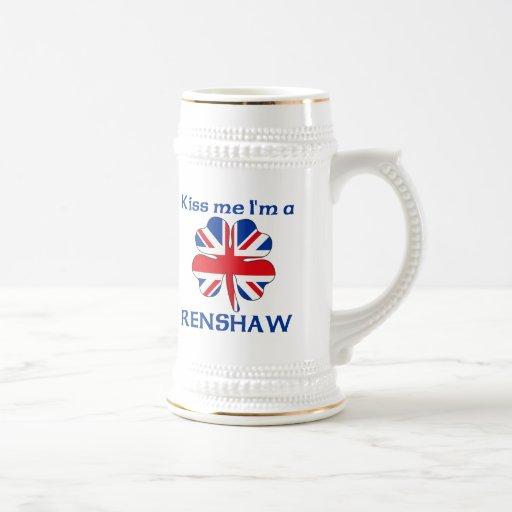 Personalized British Kiss Me I'm Renshaw Coffee Mug