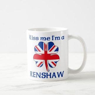 Personalized British Kiss Me I'm Renshaw Basic White Mug