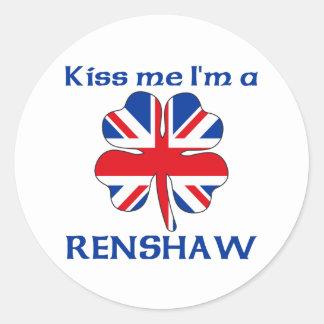 Personalized British Kiss Me I'm Renshaw Round Sticker